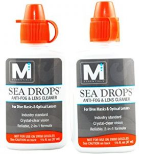 Defog or Anti fog products are sold to use on your mask before the dive preventing fogging